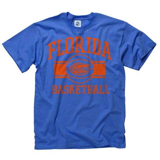 Florida Gators Royal Wide Stripe Basketball T-Shirt