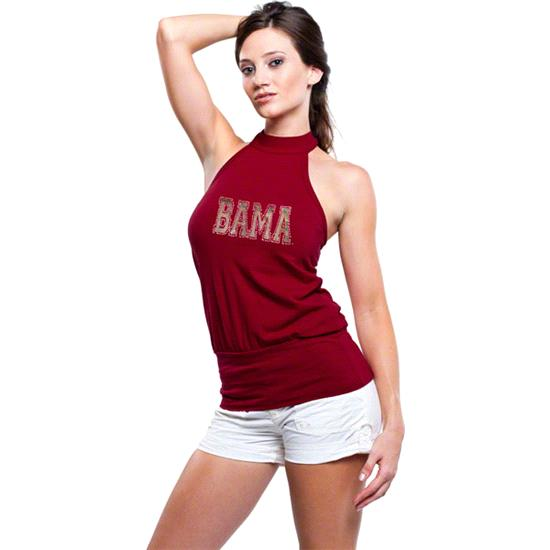 Alabama Crimson Tide Women's Crimson Bloused Halter Top