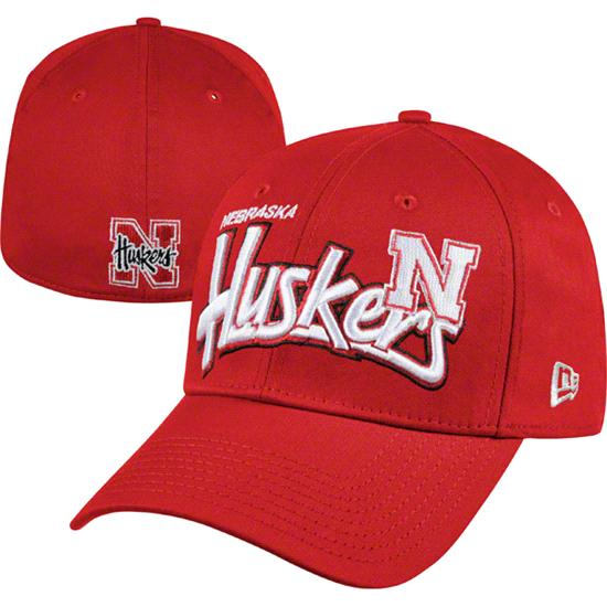 Nebraska Cornhuskers Red New Era 39THIRTY Tail Swoop Classic Stretch Fit Hat