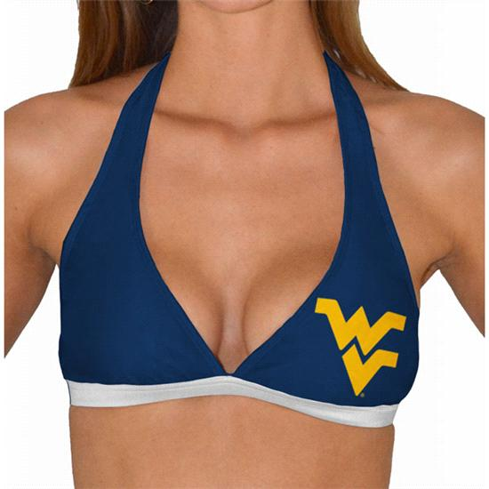 West Virginia Mountaineers Women's Halter Swim Top