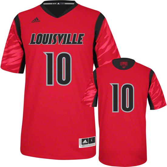 Louisville Cardinals adidas Red #10 2013 NCAA March Madness On Court Premier Basketball Jersey