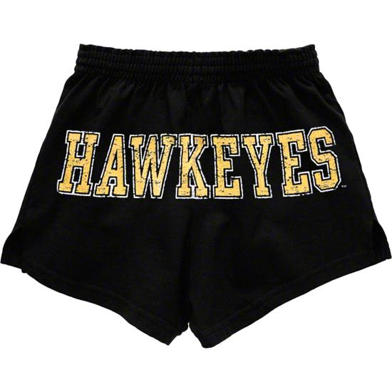Iowa Hawkeyes Women's Black Authentic Soffe Shorts