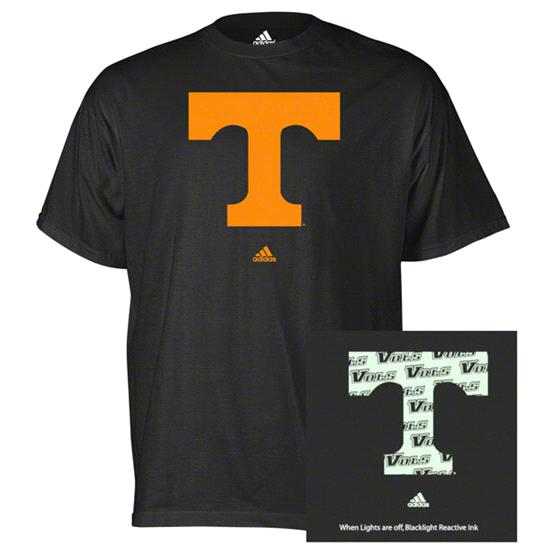 Tennessee Volunteers adidas Black X-Ray Blacklight Reactive T-Shirt