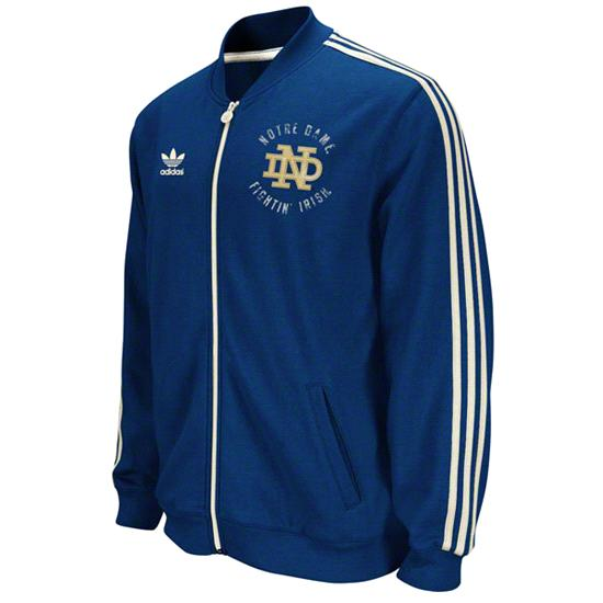 Notre Dame Fighting Irish adidas Navy Homecoming Track Jacket