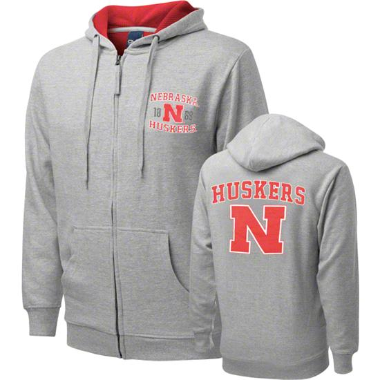 Nebraska Cornhuskers Griffin Legend Thermal Lined Full-Zip Hooded Sweatshirt