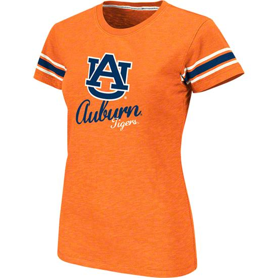 Auburn Tigers Women's Orange Backspin Slub Knit T-Shirt