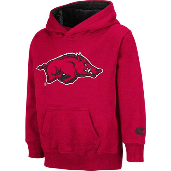 Arkansas Razorbacks Kids 4-7 Cardinal Automatic Hooded Sweatshirt
