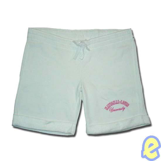 NLU White Roll-up Short