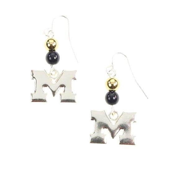 Michigan Wolverines Beaded Earrings