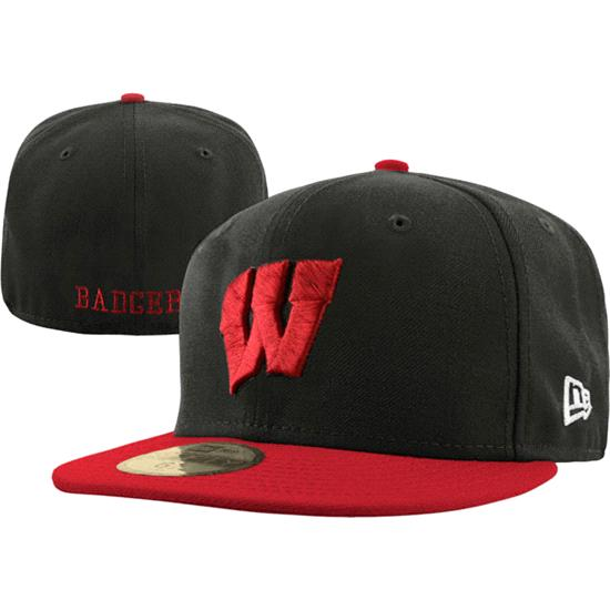 Wisconsin Badgers New Era 59FIFTY 2 Tone Graphite Fitted Hat