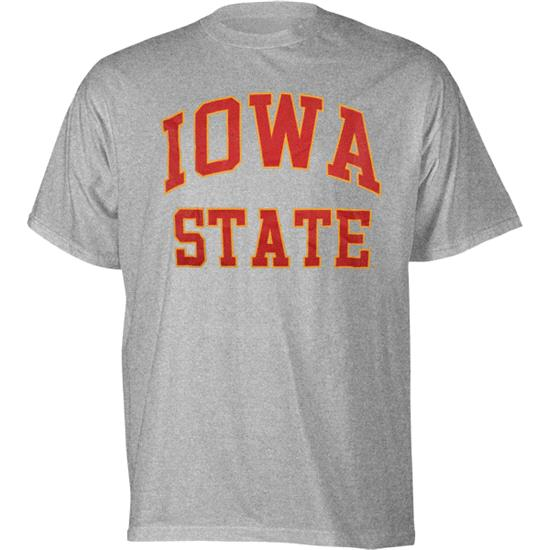 Iowa State Grey Stacked Arch T-Shirt