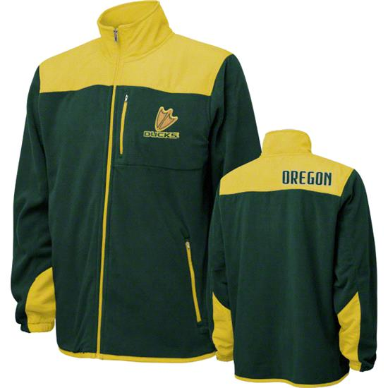 Oregon Ducks Green Micro Polar Fleece Full Zip Jacket