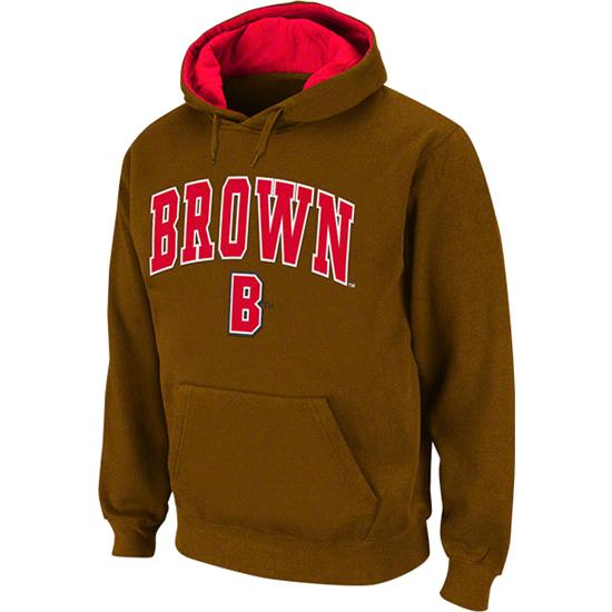 Brown Bears Arched Tackle Twill Hooded Sweatshirt