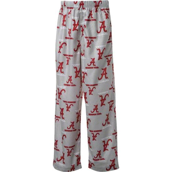 Alabama Crimson Tide Youth Grey Team Logo Printed Pants