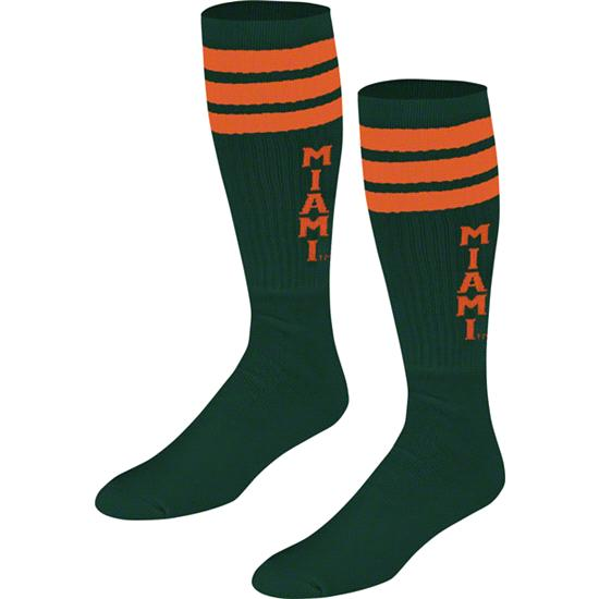 Miami Hurricanes Women's adidas Team Tube Socks