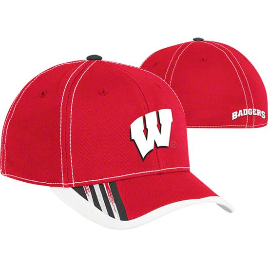 Wisconsin Badgers Youth Red adidas 2011 Football Sideline Flex Hat
