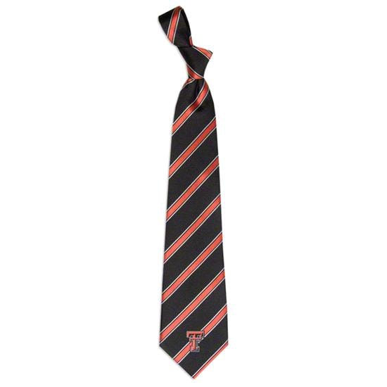 Texas Tech Red Raiders Striped Woven Poly Tie
