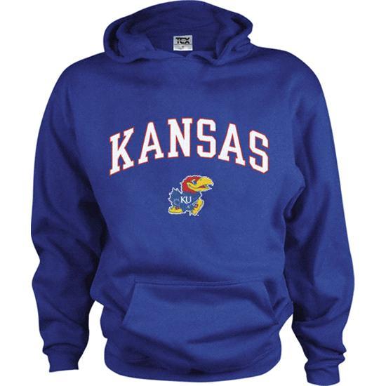 Kansas Jayhawks Kids/Youth Perennial Hooded Sweatshirt