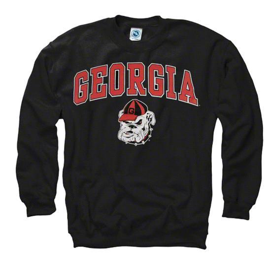 Georgia Bulldogs Black Perennial II Crewneck Sweatshirt