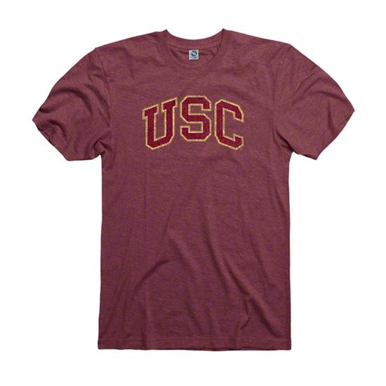 USC Trojans Heather Cardinal Tradition Ring Spun T-Shirt