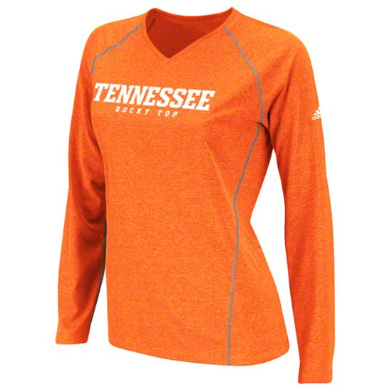 Tennessee Volunteers Women's Orange adidas 2012 Football Sideline Lady Vols Graphic ClimaLite Long Sleeve T-Shirt