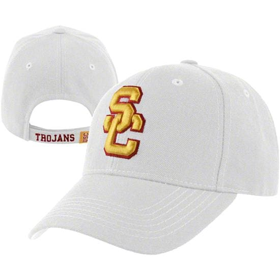 USC Trojans White Woodside Structured Adjustable Hat