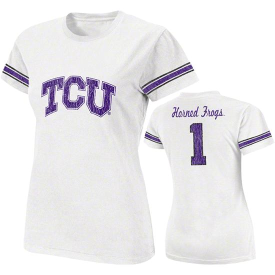 TCU Horned Frogs White Women's Galaxy Jersey T-Shirt