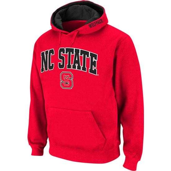 North Carolina State Wolfpack Red Twill Tailgate Hooded Sweatshirt
