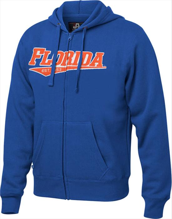 Florida Gators Royal Twill Tailsweep Full-Zip Hooded Sweatshirt