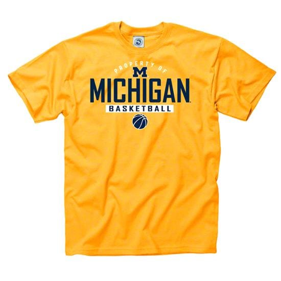 Michigan Wolverines Gold Property of Basketball T-Shirt