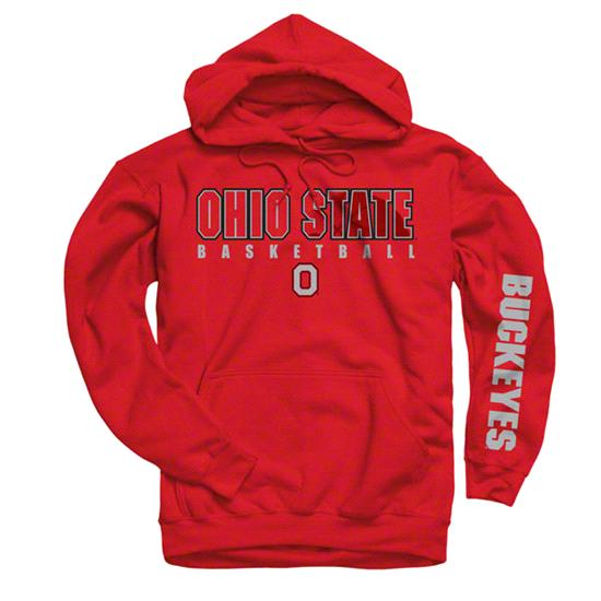 Ohio State Buckeyes Red Disguise Basketball Hooded Sweatshirt