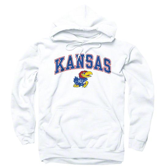 Kansas Jayhawks White Perennial II Hooded Sweatshirt