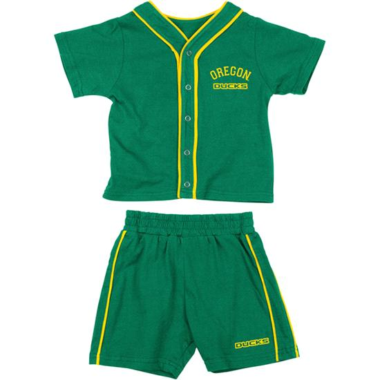 Oregon Ducks Green Infant Outfield T-shirt and Shorts Set