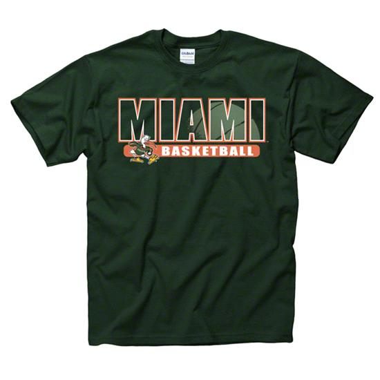 Miami Hurricanes Dark Green Youth Show Thru Basketball T-Shirt