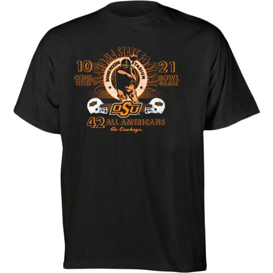 Oklahoma State Cowboys Football Diode Retro Graphic Stat T-Shirt