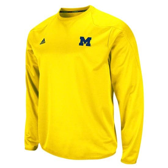 Michigan Wolverines adidas Gold 2011 Football Adizero Sideline Practice Crewneck Sweatshirt