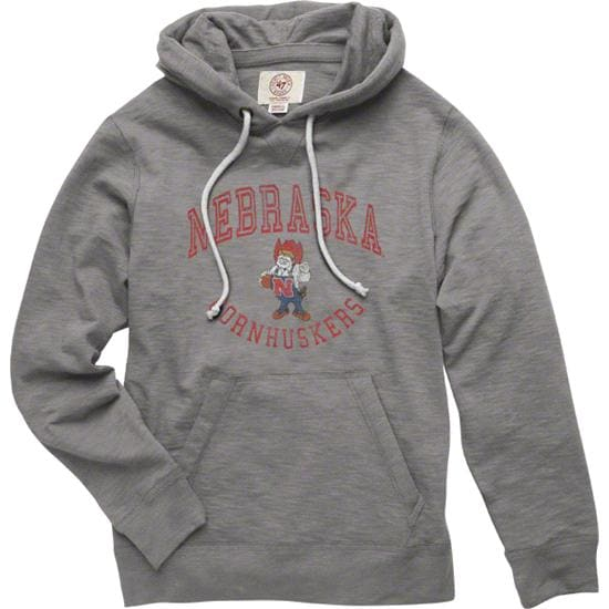 Nebraska Cornhuskers Grey '47 Brand Slugger Hooded Sweatshirt