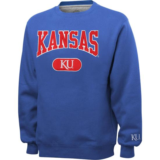 Kansas Jayhawks Royal Varsity Crewneck Sweatshirt