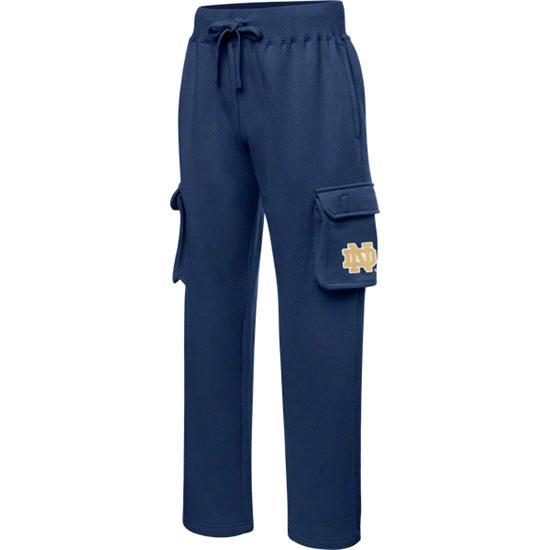 Notre Dame Fighting Irish Navy Letterman Fleece Cargo Pants