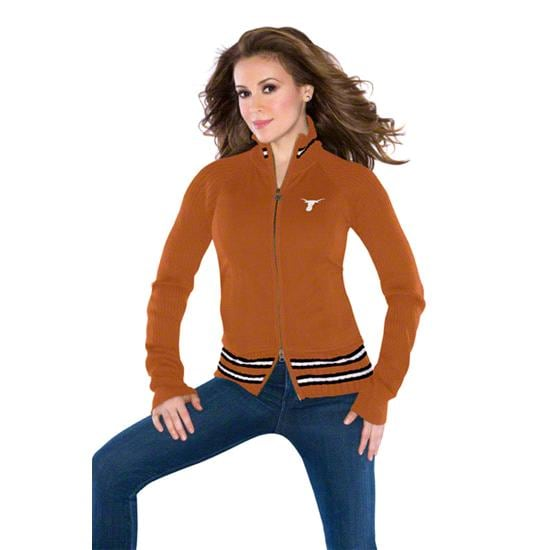 Texas Longhorns Women's Full-Zip Sweater Mix Jacket - by Alyssa Milano