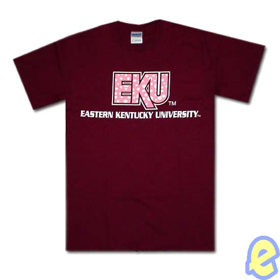 EKU Polka Dots Maroon T-Shirt