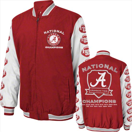 Alabama Crimson Tide Cardinal Hall of Fame Commemorative Jacket
