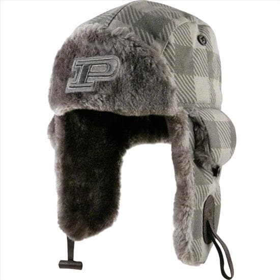 Purdue Boilermakers Grey Buffalo Bog Plaid Trooper Hat