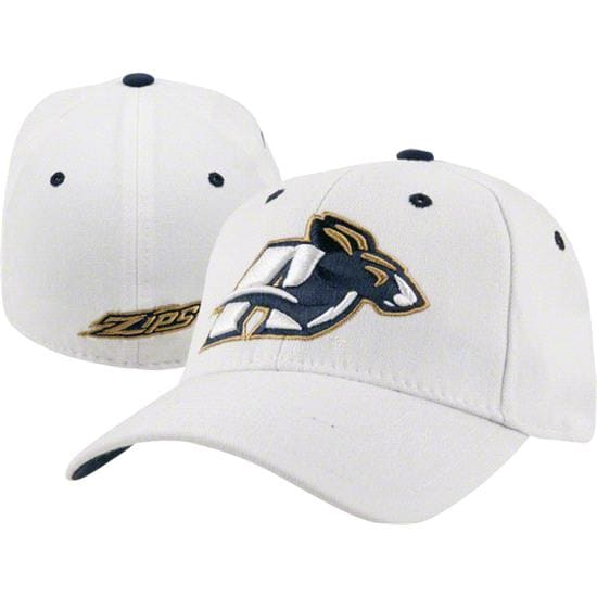 Akron Zips White Top of the World Flex Hat