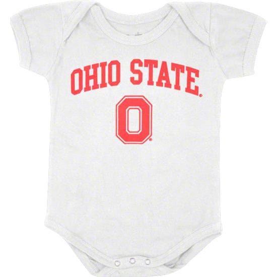 Ohio State Buckeyes Newborn/Infant White Big Fan Creeper