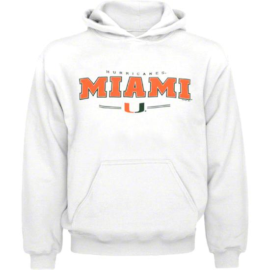 Miami Hurricanes Kids 4-7 White Clean Slate Hooded Sweatshirt