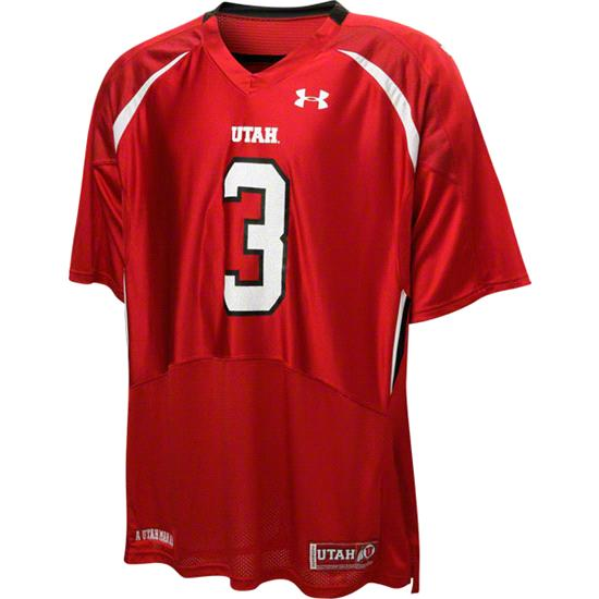 Utah Utes Red Under Armour Performance 2011 Replica Football Jersey: Utah Utes # Football Jersey