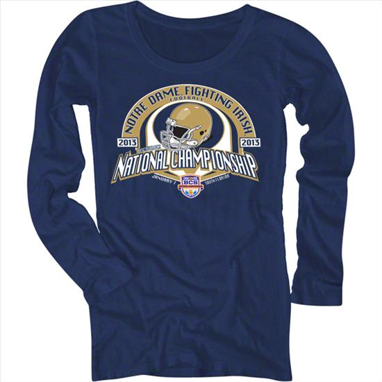 Notre Dame Fighting Irish Women's 2013 BCS National Championship Game Long Sleeve T-Shirt