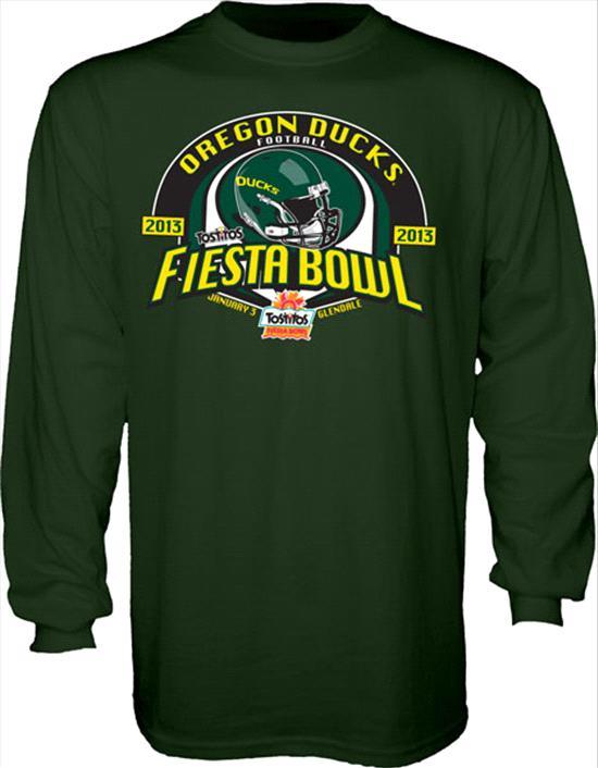 Oregon Ducks 2013 Fiesta Bowl Bound Long Sleeve T-Shirt