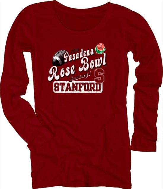Stanford Cardinal Women's 2013 Rose Bowl Bound Scoopneck Long Sleeve T-Shirt